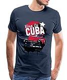 Viva la Cuba Havana Kuba Oldtimer Palmen Urlaub Männer Premium T-Shirt, S, Navy