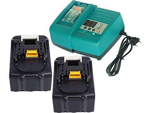 Lot de 3/Batterie Makita BL1840/BL1830/bl1840b bl1830b avec LED 18/V 4.0/Ah avec chargeurs Makita DC18RA dc18sc dc1803/dc1804/dc14sa