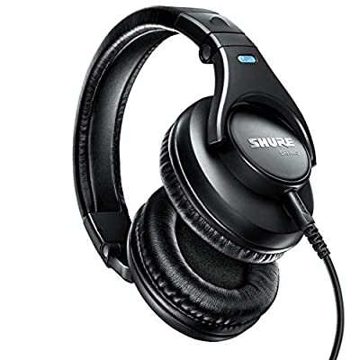 Shure SRH440-BK-EFS Professional Headphones, Accurate Audio Across an Extended Range, Collapsible, Black from Shure Incorporated