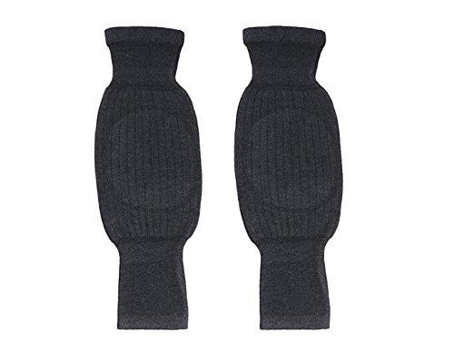 Unisex Wolle Cashmere Kniebandage Pads Winter Warm Thermo-Knielinge Sleeve für Frauen Herren - 5
