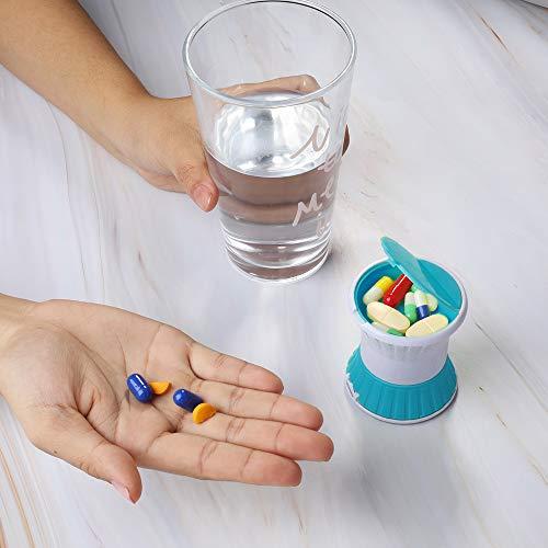 Opret錠剤クラッシャー薬カッター錠剤カッターすりつぶし機能付きピルクラッシャーお薬保管できる子供向け飲みやすい