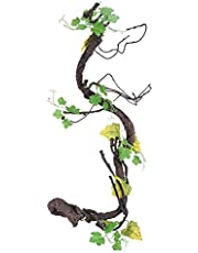 Hffheer Reptiles Lagarto Hábitat Decoración Vides Artificiales Lagartos Trepador Emulación Trepador Vides Falsas Plantas para camaleón Lagartos Serpientes