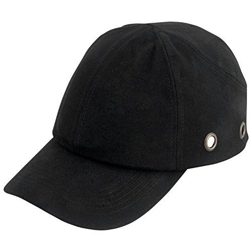 Viwanda Classic Anstoßkappe/Schutzkappe/Sicherheitskappe mit ABS-Schale, schwarz
