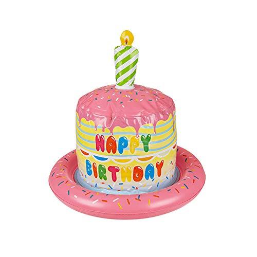 OOTB Aufblasbarer Hut, Geburtstagstorte mit Kerze - Alles Gute zum Geburtstag, Alles Gute zum Geburtstagskostüm