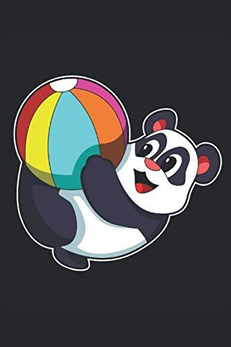 Panda Notizbuch, 120 Seiten: Wasserball - Geschenke - Panda Notizbuch - Tagebuch für Frauen, Männer und Kinder - Liniert