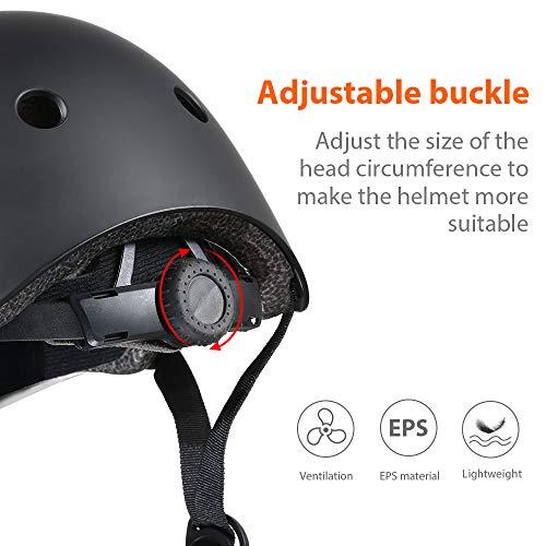 PHZ. Kids Bike Helmet Toddler Helmet CPSC Certified Adjustable Child Helmet for 3-8 Years Boy Girl Multi-Sport Cycling Skateboard Skating Scooter Black