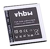 vhbw Li-ION Batterie 2000mAh (3.7V) pour téléphone Portable Smartphone Samsung Galaxy Core Prime TD-LTE, Core Prime Value Edition comme EB-BG360CBC.