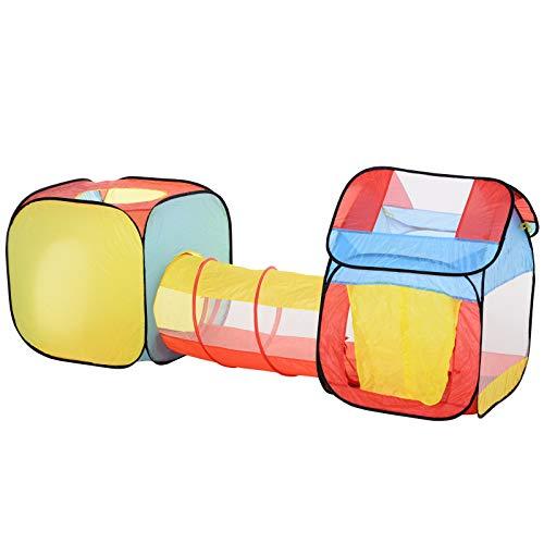 homcom Tenda Gioco per Bambini 3+ con Tunnel e Casetta, per Indoor e Outdoor (230x70x89cm), Sistema Pop-up