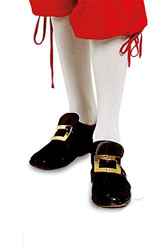 2 Paar Kniestrümpfe Mozart Barock Garde Baumwolle oder Nylon Blickdicht (43-46 Baummwolle), weiß