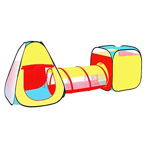 MYJZY Tienda De Juegos para Niños, Tienda para Niños con Túnel De Arrastre Y Piscina De Bolas, Casa De Juegos/Casa De Juegos Interior/Exterior, Estación De Aventura Plegable Cubby Toddlers