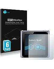 savvies Protector Pantalla Compatible con Apple iPod Nano 2011 (6a generación) (6 Unidades) Pelicula Ultra Transparente