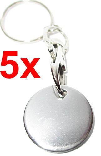 Einkaufswagenchip Metall mit Schlüsselanhänger Clip (5)