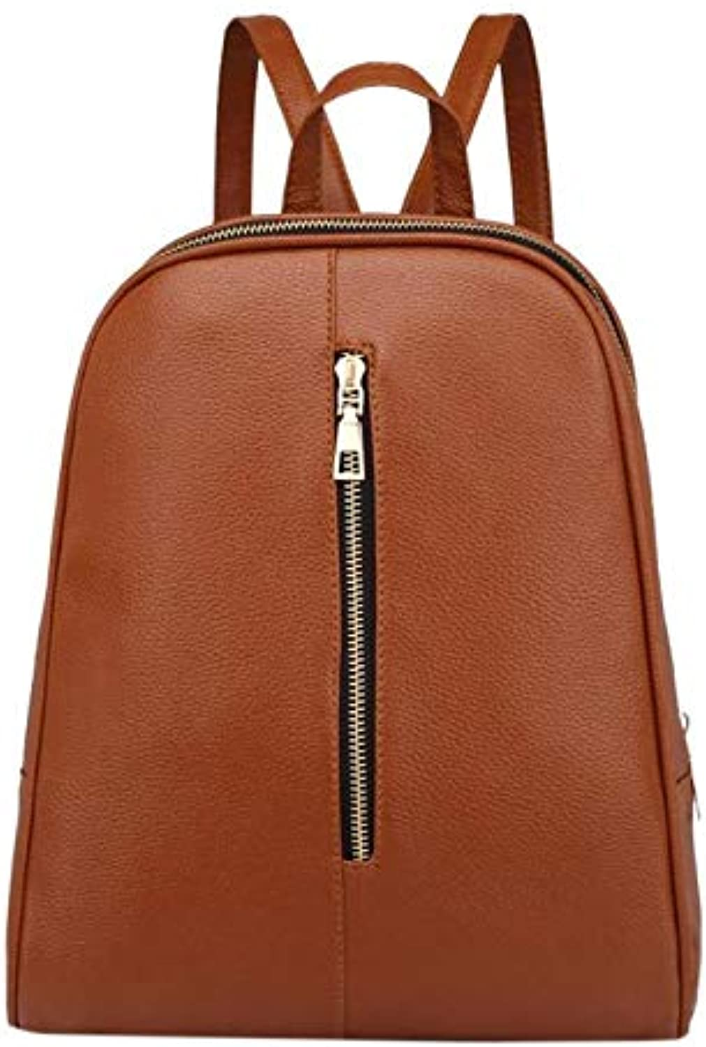 ASHIJIN Womens Casual Zipper Backpacks for Students Shoulder Bags Pure color Simple Style Girls Pack