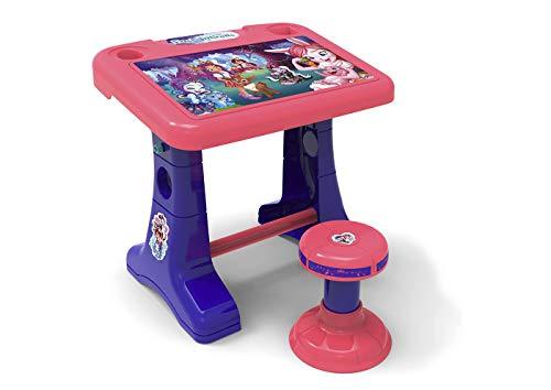 Chicos Pupitre Infantil Enchantimals, Color púrpura y Rosa, (Fábrica de Juguetes 51068)