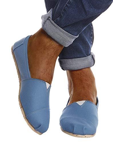 Leif Nelson Herren Espadrilles Gestreifte Schuhe für Freizeit Urlaub Freizeitschuhe für Sommer Flache Männer Sommerschuhe Sneaker Weiße Schuhe für Jungen Slipper LN101S; 44, Türkis
