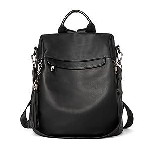 BROMEN Backpack Purse for Women Leather Anti-theft Travel Backpack Fashion Shoulder Bag 2
