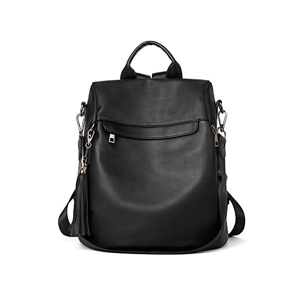 BROMEN Backpack Purse for Women Leather Anti-theft Travel Backpack Fashion Shoulder Bag 1