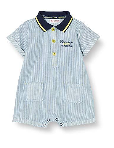 Brums Pagliacc.Denim Legg.T.Filo con Colletto Pagliaccetto, Blu (Blu Scuro (Jeans) 01 289), 68 (Taglia Unica: 6M) Bimbo