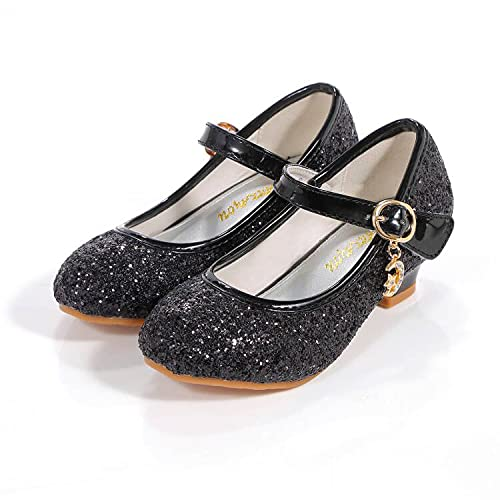 ALPHELIGANCE Girls Dress Shoes Wedding Party Heel Mary Jane Princess Flower Shoes