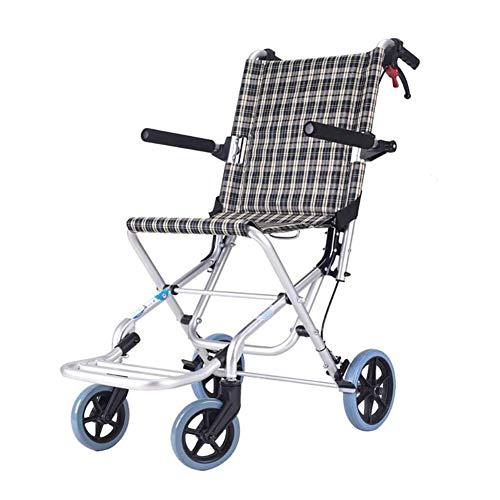 Dongbin Rollstuhl Faltrollstuhl, Reiserollstuhl Mit Steckachsensystem Sitzbreite 34 cm Belastbarkeit 150 Kg Sitzhöhe 48Cm Einstellbar,Stainlesssteel