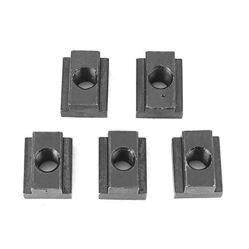 T-Nut Mutter M8 / M10 Gewinde 5 Teile/Paket 45 Kohlenstoffstahl Schwarz Oxid Finish für Maschinen Werkzeugtische(M8)