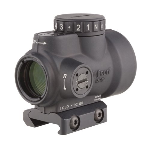 Trijicon MRO-C-2200004 1x25mm Miniature Rifle Optic (MRO) Riflescope with 2.0 MOA Adjustable...
