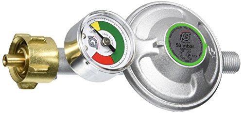 Enders® GASDRUCKREGLER mit Manometer und integrierter Schlauchbruchsicherung EFV 50 mbar, 1,5 kg/h, Anschluss G 1/4