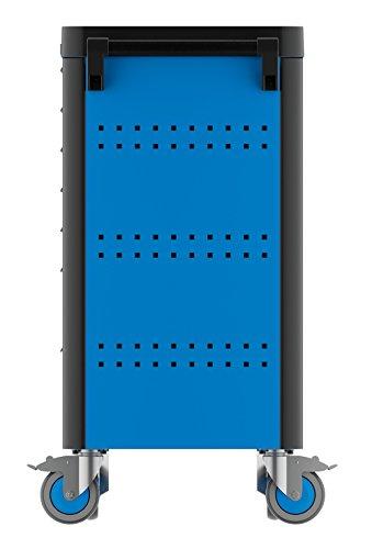 GEDORE WHL-L7 workster highline Werkzeugwagen unbestückt, blau – Rollbarer Werkstattwagen mit 7 Schubladen & Arbeitsplattform – 500 kg Tragkraft - 4