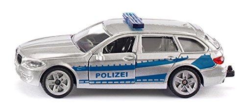 SIKU 1401, Polizei-Streifenwagen, Metall/Kunststoff, Silber, Öffenbare Türen, Anhängerkupplung