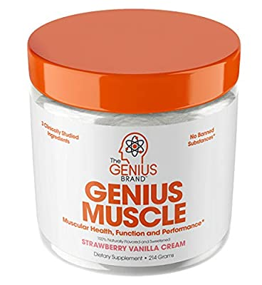 Genius Muscle Builder – Best Natural Anabolic Growth Optimizer for Men & Women   True Weight Gainer Supplement for Steel Physique   Vitamin D w/ HMB & PeakO2 Natural Mushrooms from The Genius Brand