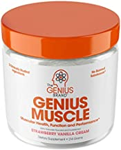 Genius Muscle Builder – Best Natural Anabolic Growth Optimizer for Men & Women   True Weight Gainer Supplement for Steel Physique   Vitamin D w/ HMB & PeakO2 Natural Mushrooms