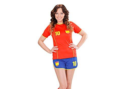 WIDMANN Disfraz de Futbolista España Mujer - M