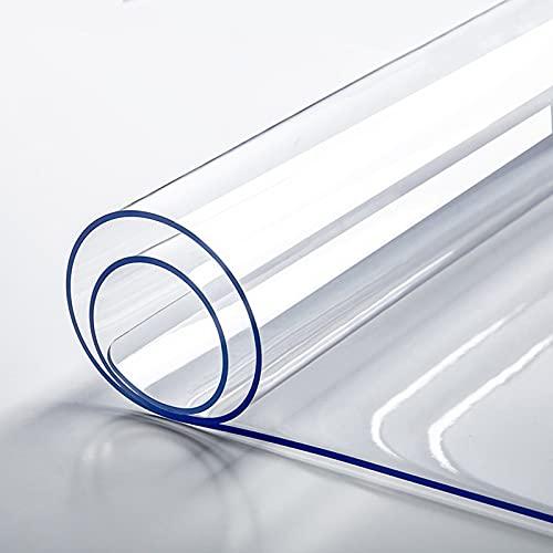 CWYP-043 Mantel Transparente, PVC Tapete De Mesa, Protector De Mesa, Impermeable, Resistente Altas Temperaturas, para Superficie de Muebles de Comedor (Color:1.5mm/.059in,Size:50x80cm/19.68x31.49in)