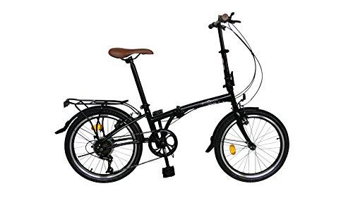 Ecosmo 20TF01BL Vélo urbain pliant 50,8 cm, 6...