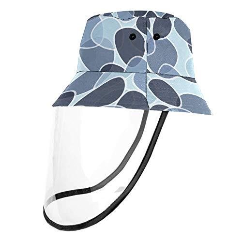 Tizorax abnehmbarer Sonnenhut, UV-Schutz, Fischerhut, Sommerhut für Damen und Herren, abstrakte Fliesen Gr. S/M, mehrfarbig