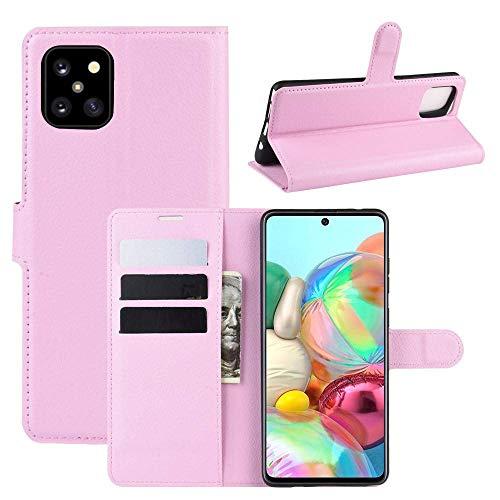 CoverKingz Handyhülle für Samsung Galaxy Note10 Lite [6,7 Zoll] - Handytasche mit Kartenfach Note10 Lite Cover - Handy Hülle klappbar Rosa