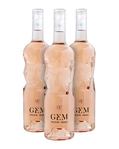 GEM I.G.P. Pays d'Oc Vino Rosado - Languedoc-Roussillon, Francia - Pack 3 Bot. 75 cl