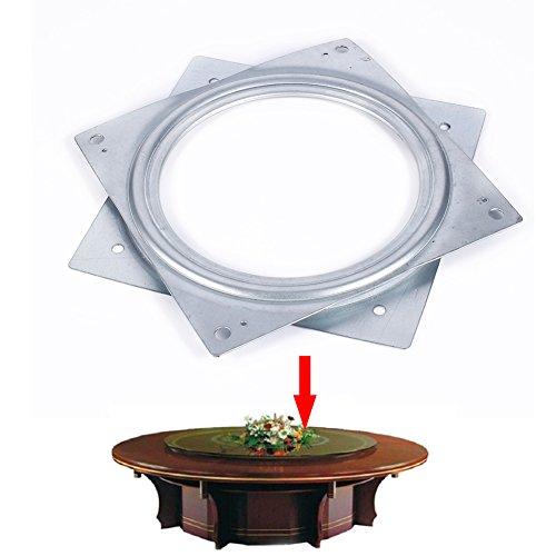 Rotierende drehbare Drehtellerplatte, 6 Zoll Korrosionsbeständiges und rostfreies quadratisches Metall Rotierende drehbare Platte TV-Schreibtisch Lazy Susan-Drehtellerlager