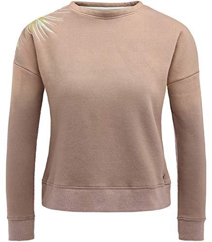 khujo Damen JENUFA Cozy Sweater Long Pullover, Braun (Mocha 547), 44 (Herstellergröße:L)