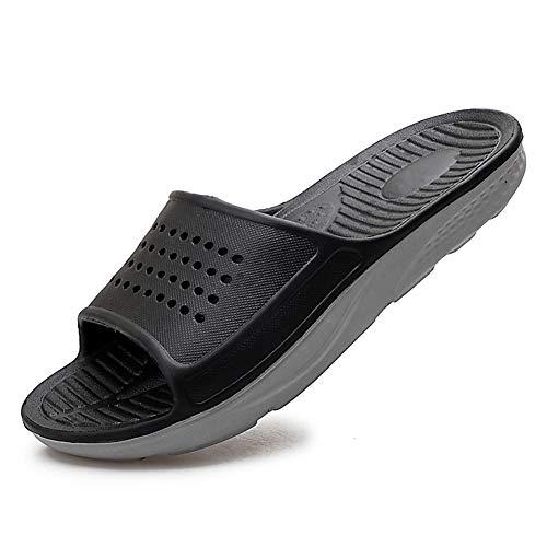 EASYANT Men Shower Pool Sandals Fast Dry Anti Slip EVA Soft Slippers Shoes Black