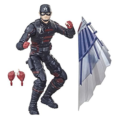 Marvel Legends Series Vingadores Design Especial Premium, Figura 15 cm - Agente Americano - F0246 - Hasbro