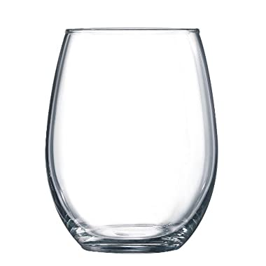 Arc International Luminarc Cachet/Perfection Stemless Wine Glass, (15 Ounce 6 Piece Set, Clear) (109786)
