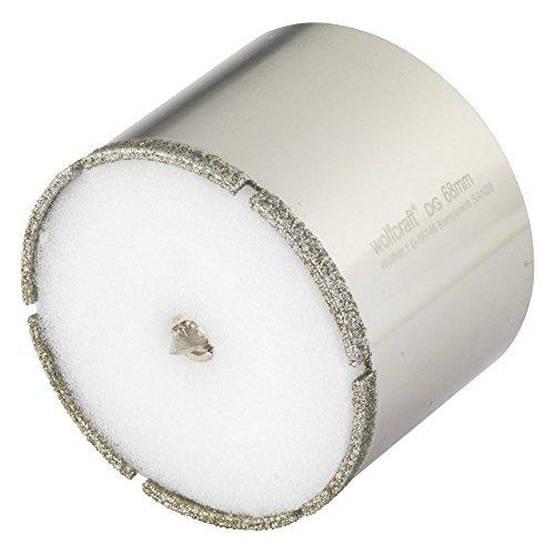 wolfcraft Ceramic Diamant-Lochsäge 5931000 – Bohrkrone inkl. Zentrierbohrer für den Akkuschrauber – Bohrkranz für Fliesen und Feinsteinzeug – Durchmesser 68mm
