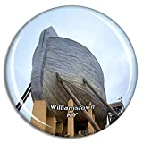 Weekino Williamstown Ark Encounter Kentucky Estados Unidos Imán de Nevera 3D de Cristal de la Ciudad de Viaje Recuerdo Colección de Regalo Fuerte Etiqueta Engomada refrigerador