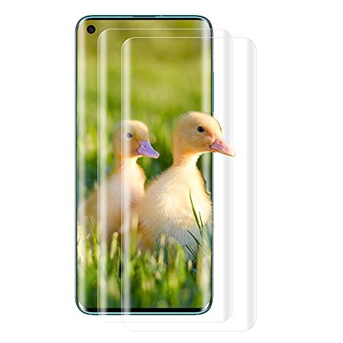 [2 Unidades] Protector de Pantalla de Cristal Templado para Xiaomi Mi 10, Protector de Pantalla de Cristal Templado de Dureza 9H, Antiburbujas, Protector de Pantalla para Xiaomi Mi 10 (Transparente)