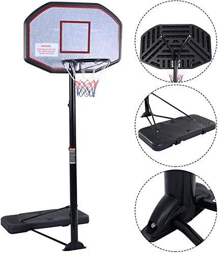 KL KLB Sport Portable Basketball Hoop System Height Adjustable...