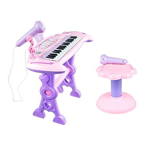 Tree-on-Life Kinder 37 Key Elektronische Tastatur Klavier Orgel Spielzeug-Set Mikrofon Musik-Spiel für Kinder pädagogisches Spielzeug-Geschenk - Multicolor