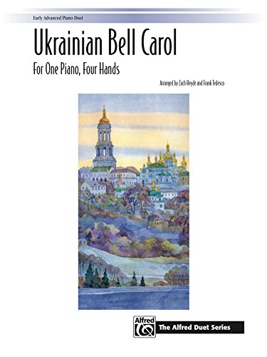 Ukrainian Bell Carol: For Early Advanced Piano Duet (1 Piano, 4 Hands) (The Alfred Duet Series) (English Edition)