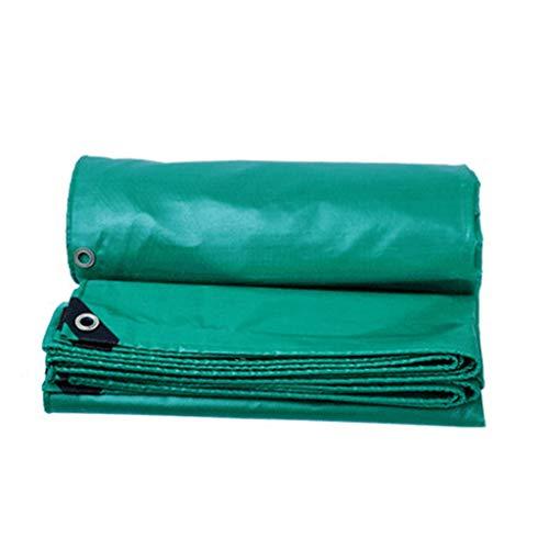 LILIS Fundas Muebles Jardin Impermeable Tela recubierta de PVC de la Lona 100% Impermeable, Anti-UV, Trabajo Pesado, 530 g/m², 0.4mm (Color : Green, Size : 2X2m)