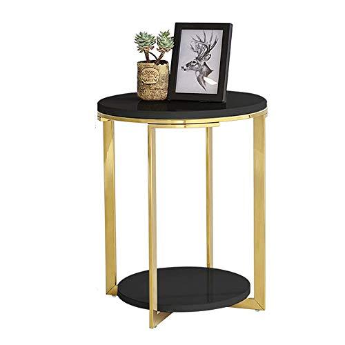 Carl Artbay Home & Selected Furniture / salontafel van roestvrij staal, klein, rond, hoekbank, 2-dieren-telefoon, 18 inch; 21,6